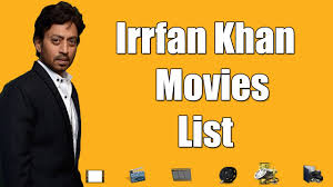 Irrfan Khan Movies List - Irrfan Khan All Movies - YouTube