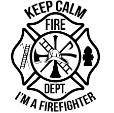 Keep Calm I M A Firefighter Maltese Cross Window Decal Police Fire Ems Viny Graphics Stickers Decals Dkedecals