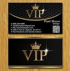 business card design for vip nails