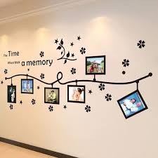 Diy Flower Stars Photo Flower Vine Wall Stickers Quotes Vinyls Stickers Large 240 80cm Family Wall Decals Home Decor Living Room Wish