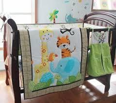 piece boy baby bedding set animals
