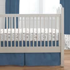 blue denim boho 2 piece crib bedding