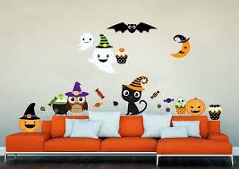 Kawaii Halloween Wall Decal Sticker Set Wall Decal Wallmonkeys Com