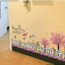 1pcs Fairy Garden Flower Fence Skirting Line Wall Stickers Decals Living Room Bedroom Lobby Corridor Home Accessories Poster Diy Posters Elephants Accessories Womenposter Frames Free Shipping Aliexpress