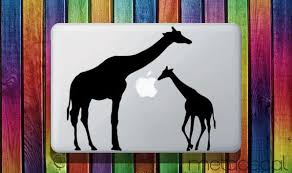 Giraffe Family Macbook Sticker Decal 13 Laptop Etsy