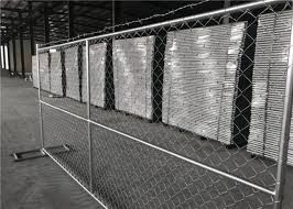 Anti Rust Removable Portable Chain Link Fence Panels 6 X 10 Free Standing