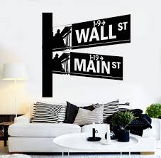 Vinyl Wall Decal Street Signs Wall Street New York Room Interior Stickers Unique Gift Ig4336 Vinyl Wall Decals Room Interior Wall Signs