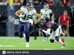Houston, Texas, USA. 29th Dec, 2019. Tennessee Titans tight end MyCole  Pruitt (85) carries the ball