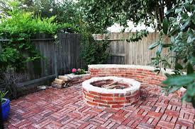 red brick fire pit ideas brick fire