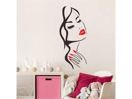 Sexy Girl Lip Eyes Wall Stickers Living Bedroom Decoration Diy Vinyl Decals Art Poster Home Decor Ping A3 Newegg Com