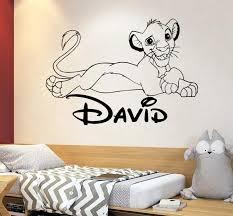 The Lion King Disney Cartoon Wall Decal Simba Lion Nursery Wall Decor Wall Decal Boy And