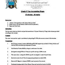 accounting grade 9 november exam