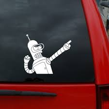 Futurama Bender Bending Rodriguez Pointing 5 X 6 Vinyl Decal Window Sticker For Cars Trucks Windows Walls Laptops And More Wish