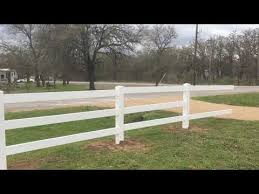 3 Rail Vinyl Horse Fence Installation On 2 6 Acres Ranch Youtube
