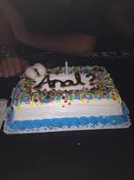 surprised me with my birthday cake