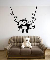 Vinyl Wall Decal Sticker Monkey Swing Os Mb1201 Stickerbrand