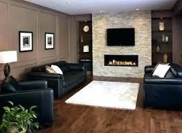 fireplace accent wall ideas dark walls