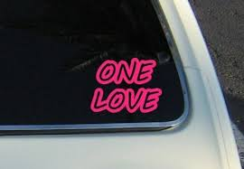 One Love Decal Decal Vinyl Decal Bumper Sticker Decal Etsy