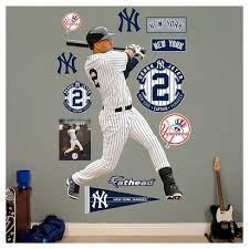 Mlb New York Yankees Derek Jeter Fathead Wall Decal Set Target