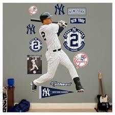Mlb New York Yankees Derek Jeter Fathead Wall Decal Set Target