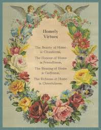 rose blessing homely virtues angels garland of flowers our