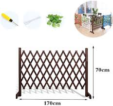Zeiyuqi Diy Garden Fence Panels Fold Solid Wood Flower Stand For Wall Garden Yard Backyard Indoor Kids Fence Amazon Co Uk Sports Outdoors