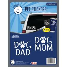 Dog Mom And Dad With Paw Car Stickers Pet Car Creemers Enterprise Llc