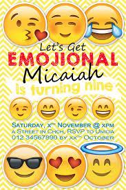 Emoji Birthday Party Invitation For My Amazing Nearly 9 Year Old