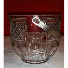 ice bucket with removable silver handle