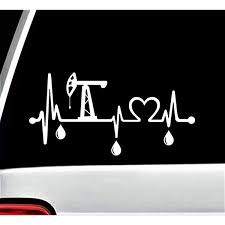 Amazon Com K1015 Oilfield Heartbeat Love Lifeline Monitor Decal Sticker Arts Crafts Sewing