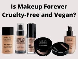 is makeup forever free and vegan
