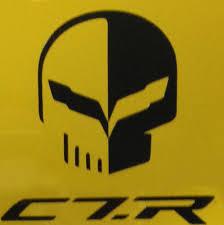 C7 Stingray Corvette Jake Racing Skull Vinyl Decal Gscreations