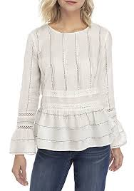 Crown & Ivy Bell Sleeve Woven Top   Woven top, Tops, Bell sleeves