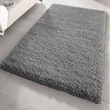 fluffy plain modern 5cm gy rug