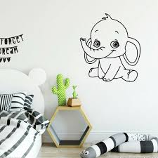 Dumbo The Elephant Pink Contour Cut Decal Vinyl Wall Sticker For Kids Room For Sale Online