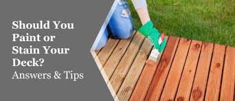 painting vs staining your deck which