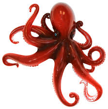 octopus 9 inch wall decor resin plaque