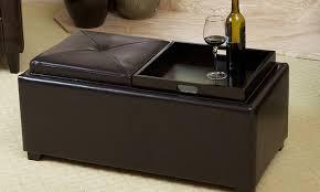 contemporary tray top ottoman groupon