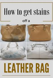 get stains off a leather bag