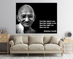 Mahatma Gandhi Quote Decal Motivation Poster Gandhi Quote Etsy Quote Decals Wall Art Quotes Mahatma Gandhi Quotes
