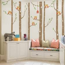 Zoomie Kids Birch Tree With Owl Wall Decal Reviews Wayfair