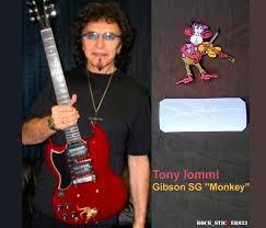 Tony Iommi Guitar Stickers Monkey Custom Decal Gibson Sg Black Etsy