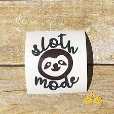 Amazon Com Sloth Mode Vinyl Decal Sticker Yeti Cup Tumblers Mugs Water Bottles Trucks Vans Suvs Car Window Accessories For Women Dark Grey And Brown 3 5 Inches Handmade