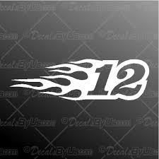 Shop Now For Racing Numbers With Flames Car Truck Decals
