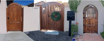 Albuquerque Solid Wood Fence Gates Ranch Picket Or Custom