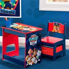 Delta Paw Patrol Kid Wood Desk And Chair Set In Blue And Red Nebraska Furniture Mart