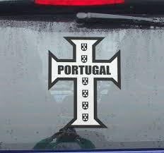 Portuguese Cross Car Sticker Tenstickers