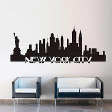 New York City Skyline Black Wall Decal Wall Decal Allposters Com