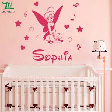 A26 Fairy Girl Stars Angel Wall Stickers Personalized Custom Name Vinyl Wall Decal For Kids Room Decor Wall Art Poster Vinyl Wall Decals Name Wall Decalswall Decals Aliexpress