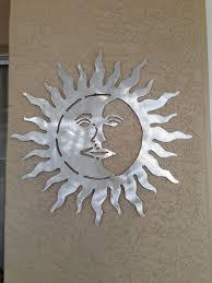 metal sun and moon wall art indoor